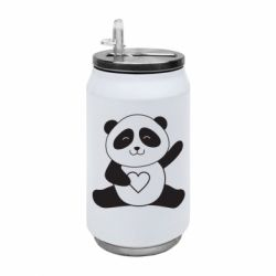 Термобанка 350ml Panda and heart