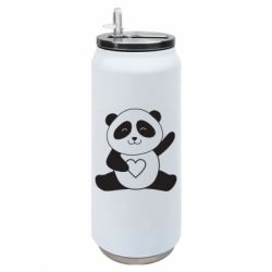 Термобанка 500ml Panda and heart