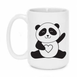 Кружка 420ml Panda and heart