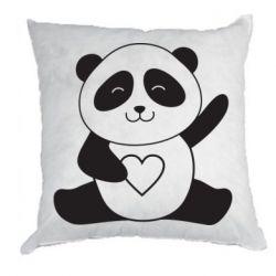 Подушка Panda and heart