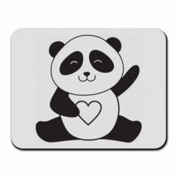 Килимок для миші Panda and heart