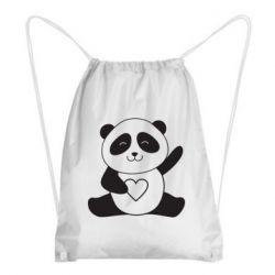Рюкзак-мішок Panda and heart