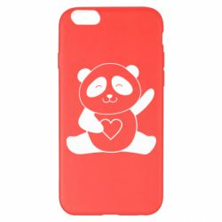 Чохол для iPhone 6 Plus/6S Plus Panda and heart