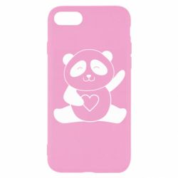 Чохол для iPhone 7 Panda and heart