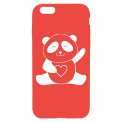 Чохол для iPhone 6/6S Panda and heart