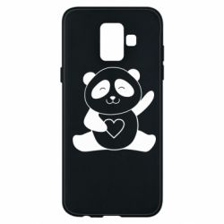 Чохол для Samsung A6 2018 Panda and heart