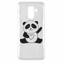 Чохол для Samsung A6+ 2018 Panda and heart