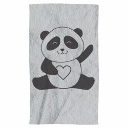 Рушник Panda and heart