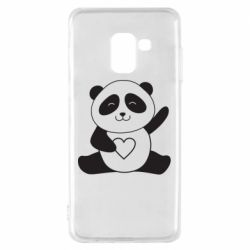 Чохол для Samsung A8 2018 Panda and heart