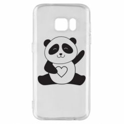 Чохол для Samsung S7 Panda and heart