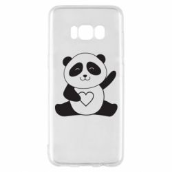 Чохол для Samsung S8 Panda and heart