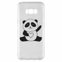 Чохол для Samsung S8+ Panda and heart