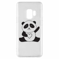 Чохол для Samsung S9 Panda and heart