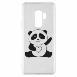 Чохол для Samsung S9+ Panda and heart