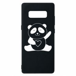 Чохол для Samsung Note 8 Panda and heart