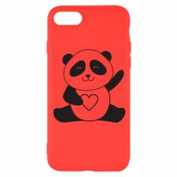 Чохол для iPhone 8 Panda and heart