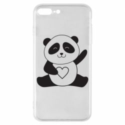 Чохол для iPhone 8 Plus Panda and heart