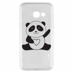 Чохол для Samsung A3 2017 Panda and heart
