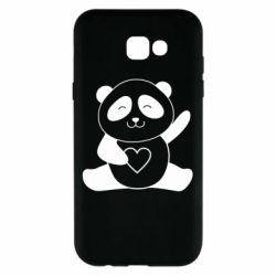 Чохол для Samsung A7 2017 Panda and heart