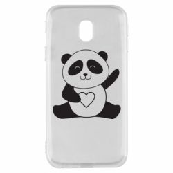 Чохол для Samsung J3 2017 Panda and heart