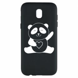 Чохол для Samsung J5 2017 Panda and heart