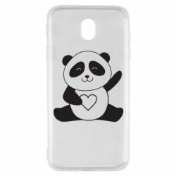 Чохол для Samsung J7 2017 Panda and heart
