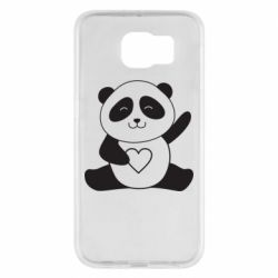 Чохол для Samsung S6 Panda and heart