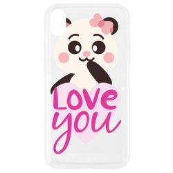 Чехол для iPhone XR Panda and love