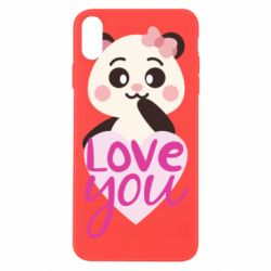 Чехол для iPhone Xs Max Panda and love