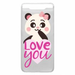 Чехол для Samsung A80 Panda and love
