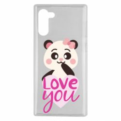 Чехол для Samsung Note 10 Panda and love