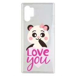 Чехол для Samsung Note 10 Plus Panda and love