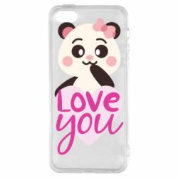 Чехол для iPhone5/5S/SE Panda and love