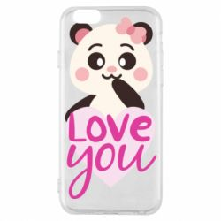 Чехол для iPhone 6/6S Panda and love