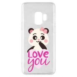 Чехол для Samsung S9 Panda and love