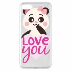 Чехол для iPhone 8 Panda and love