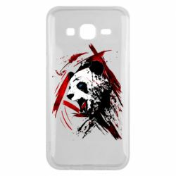 Чехол для Samsung J5 2015 Panda and paint strokes