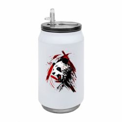 Термобанка 350ml Panda and paint strokes