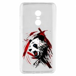 Чехол для Xiaomi Redmi Note 4 Panda and paint strokes