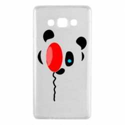 Чехол для Samsung A7 2015 Panda and red balloon