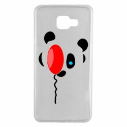 Чехол для Samsung A7 2016 Panda and red balloon