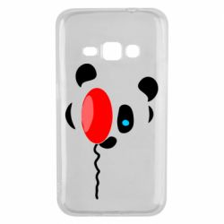 Чехол для Samsung J1 2016 Panda and red balloon