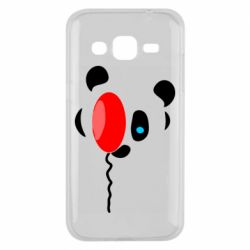 Чехол для Samsung J2 2015 Panda and red balloon