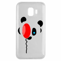 Чехол для Samsung J2 2018 Panda and red balloon