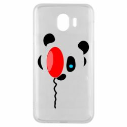 Чехол для Samsung J4 Panda and red balloon
