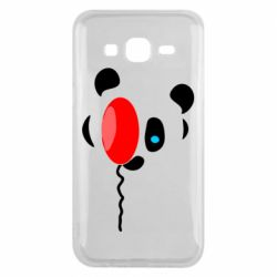 Чехол для Samsung J5 2015 Panda and red balloon