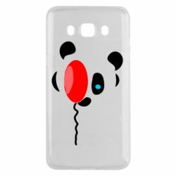 Чехол для Samsung J5 2016 Panda and red balloon