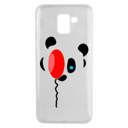 Чехол для Samsung J6 Panda and red balloon