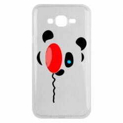 Чехол для Samsung J7 2015 Panda and red balloon
