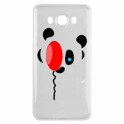 Чехол для Samsung J7 2016 Panda and red balloon